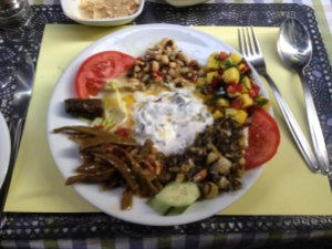 A platter of Turkish meze