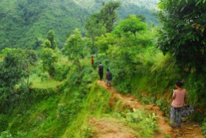 Trekking to the caves
