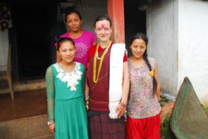 L-R: Roji, Pabitra, Me and Trishna