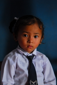 A student at Dewanchok school