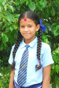 A student at Syangja school