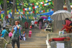 The many steps at Swayambunath
