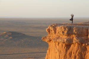 Yoga in the Gobi