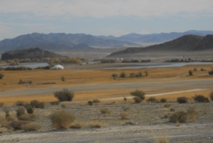 A prettier stretch of land that we'd passed through in Western Mongolia